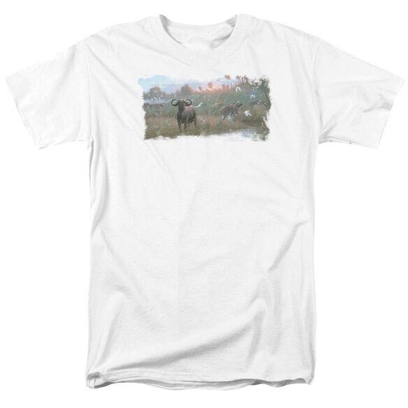 Wildlife Cape Buffalo Short Sleeve Adult White T-Shirt