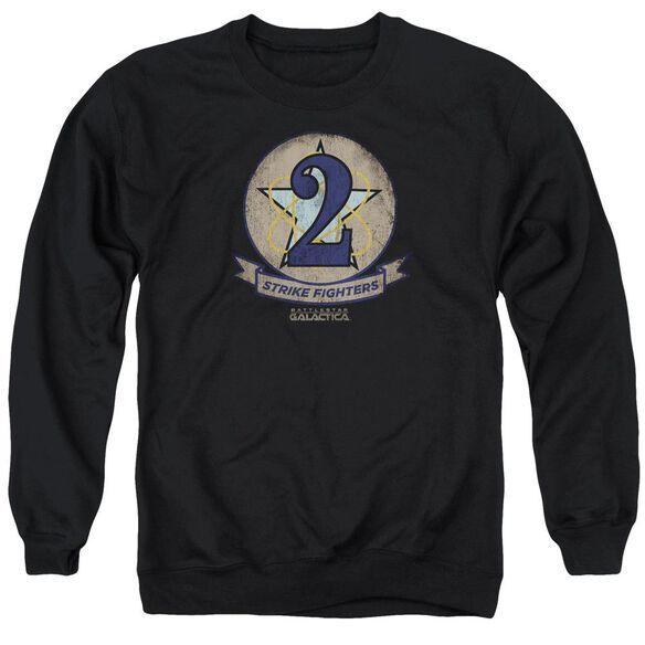 Bsg Strike Fighters Badge Adult Crewneck Sweatshirt