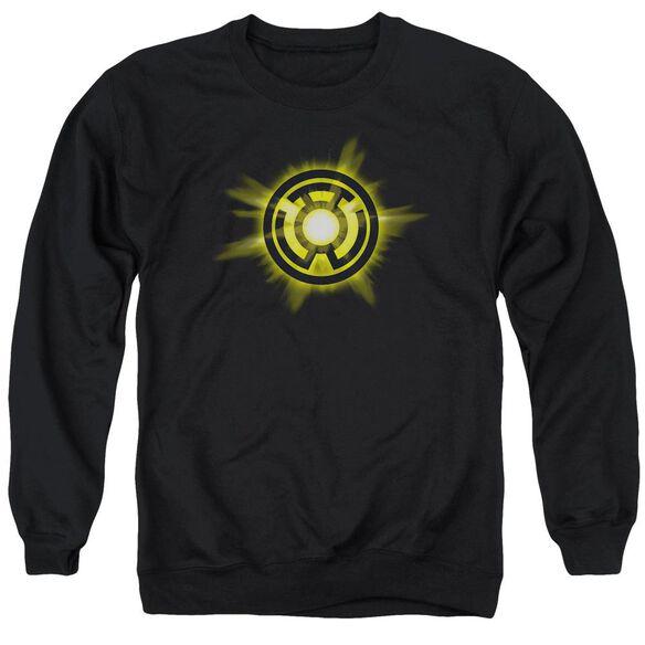 Green Lantern Yellow Glow Adult Crewneck Sweatshirt