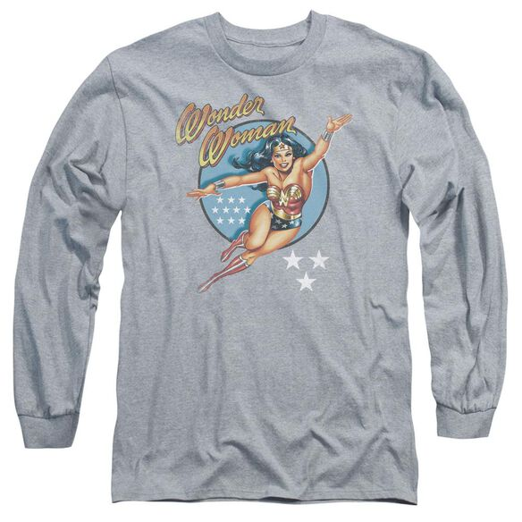 Dco Wonder Woman Vintage Long Sleeve Adult Athletic T-Shirt