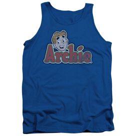 Archie Comics Distressed Archie Logo Adult Tank Royal