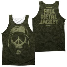 Full Metal Jacket War For Peace (Front Back Print) Adult Poly Tank Top