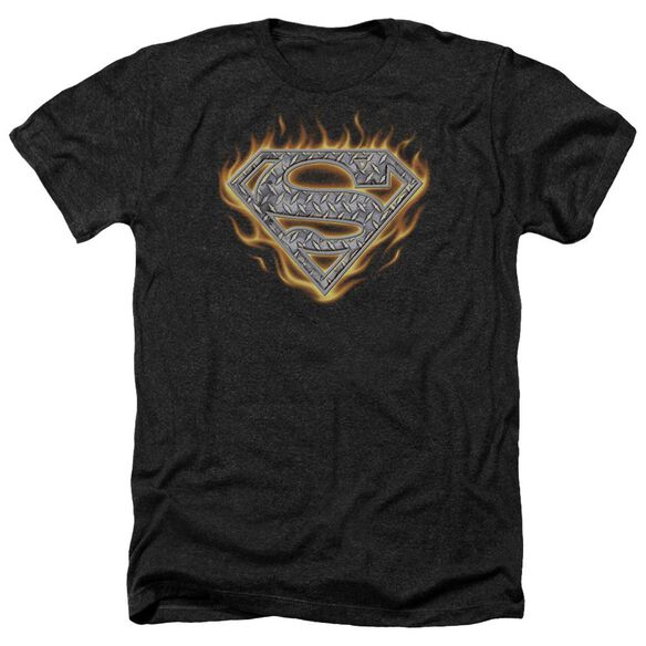 Superman Steel Fire Shield Adult Heather