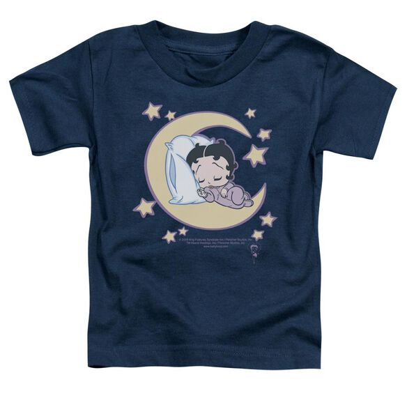 Betty Boop Sleepy Time Short Sleeve Toddler Tee Navy Sm T-Shirt