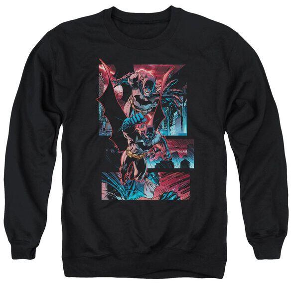 Batman Dark Knight Panels Adult Crewneck Sweatshirt