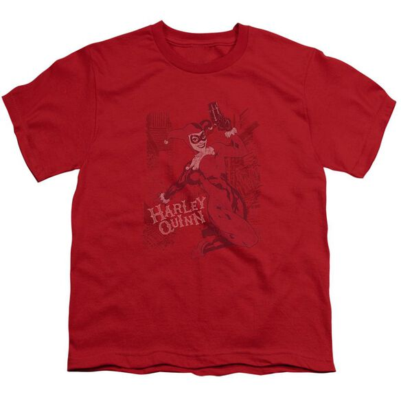 BATMAN HARLEYS PACKING - S/S YOUTH 18/1 - RED T-Shirt