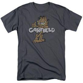 Garfield Retro Garf Short Sleeve Adult Charcoal T-Shirt