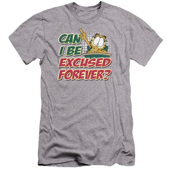Garfield Excused Forever Premuim Canvas Adult Slim Fit Athletic