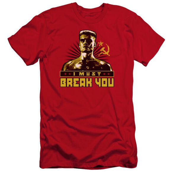 Rocky Iv I Must Break You Premuim Canvas Adult Slim Fit