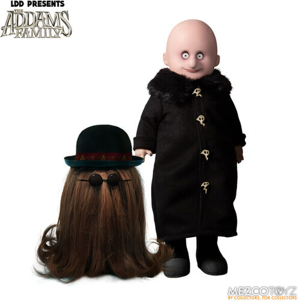 Mezco - Living Dead Dolls Presents The Addams Family (2019): Uncle Fester and It - Free Shipping