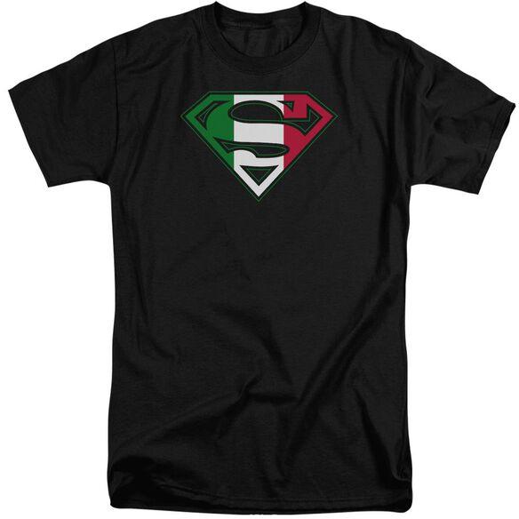Superman Italian Shield Short Sleeve Adult Tall T-Shirt