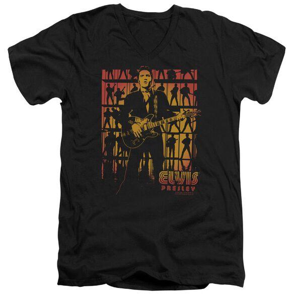 Elvis Comeback Spotlight Short Sleeve Adult V Neck T-Shirt