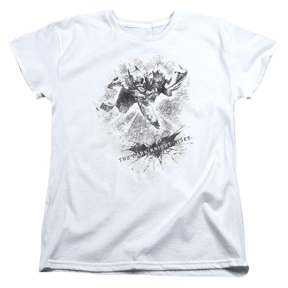 Dark Knight Rises Penciled Knight Short Sleeve Womens Tee T-Shirt