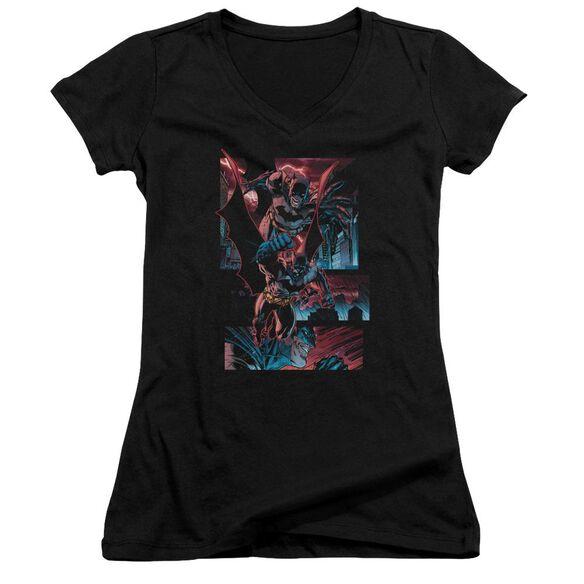 Batman Dark Knight Panels Junior V Neck T-Shirt