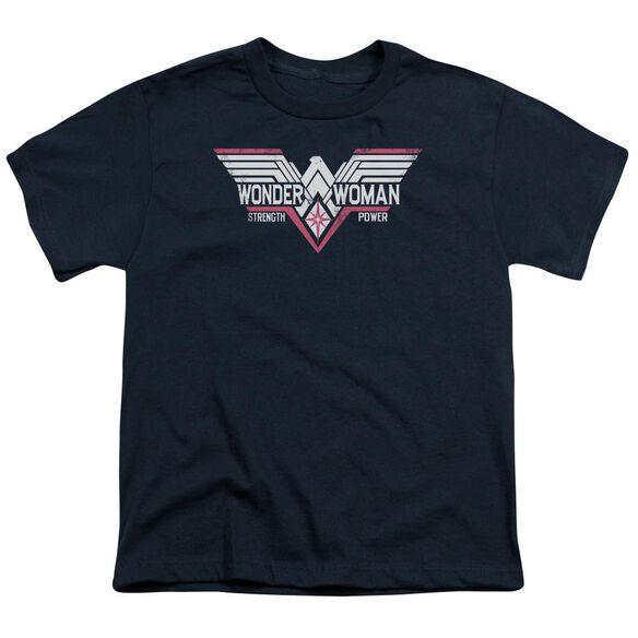 Batman V Superman Thunder Logo Short Sleeve Youth T-Shirt