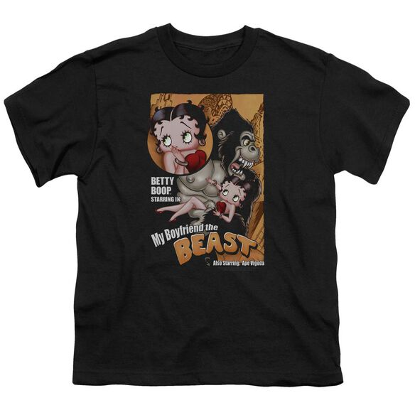 Betty Boop Boyfriend The Beast Short Sleeve Youth T-Shirt