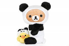 "Rilakkuma by San-X 10"" Panda With Kiiroitori plush"