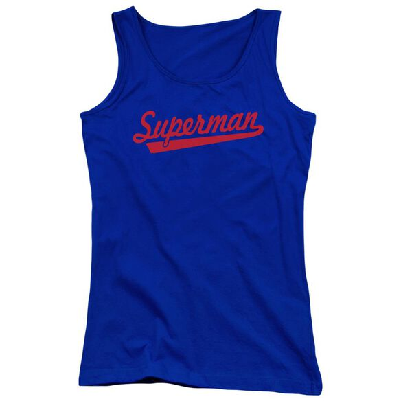 Superman S Tail Juniors Tank Top Royal