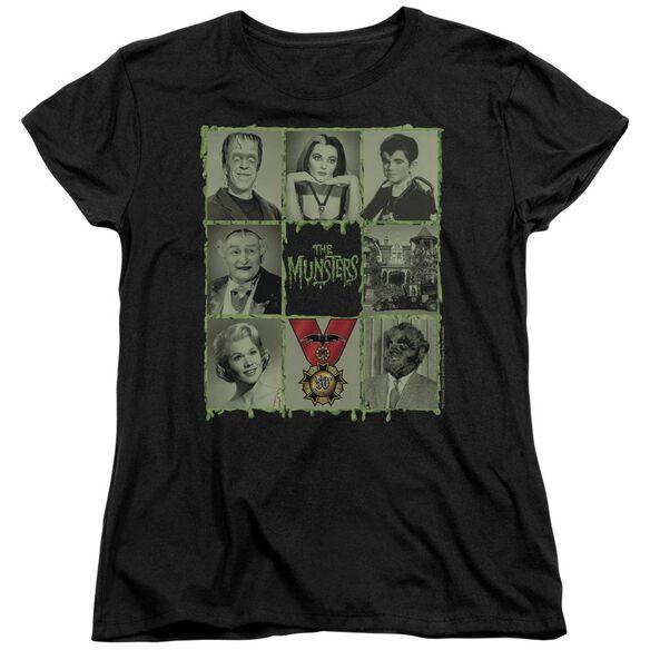The Munsters Blocks Short Sleeve Womens Tee T-Shirt