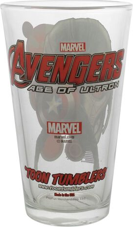 Avengers Age of Ultron Captain America Pint Glass
