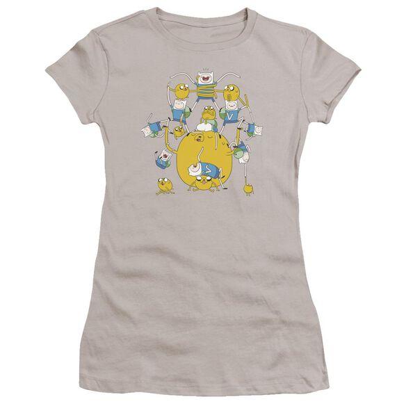 Adventure Time Finn&Jake Group Hbo Short Sleeve Junior Sheer T-Shirt