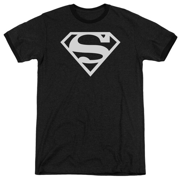 Superman Logo Adult Heather Ringer