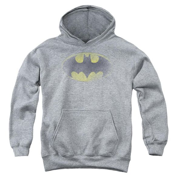 Batman Faded Logo Youth Pull Over Hoodie
