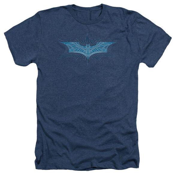 Dark Knight Bat Armor Logo Adult Heather