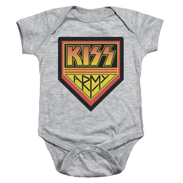 Kiss Army Logo Infant Snapsuit Athletic Heather