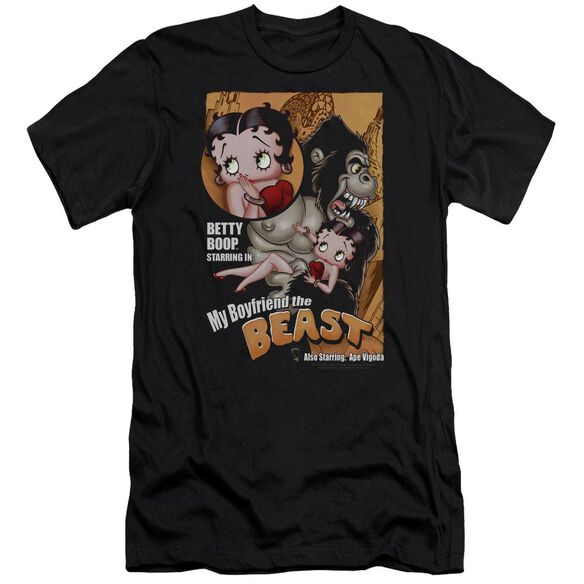 Betty Boop Boyfriend The Beast Premuim Canvas Adult Slim Fit