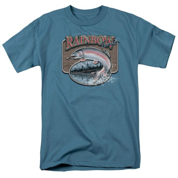Wildlife Rainbow Trout Short Sleeve Adult Slate T-Shirt
