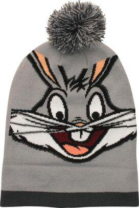 Looney Tunes Bugs Bunny Face Cuff Pom Beanie