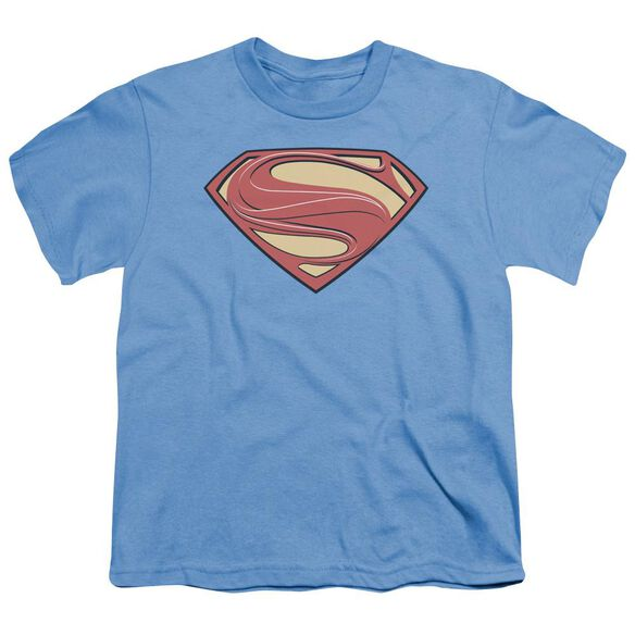 Man Of Steel New Solid Shield Short Sleeve Youth Carolina T-Shirt