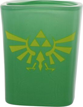Zelda Logos and Shield Square Shot Glass Set