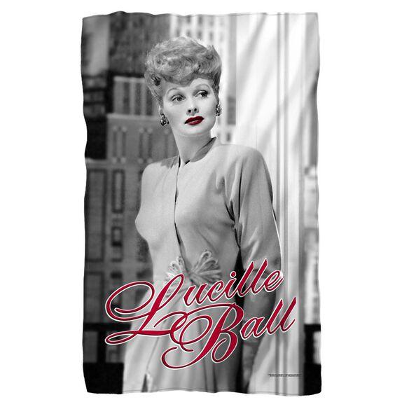 Lucille Ball City Girl Fleece Blanket