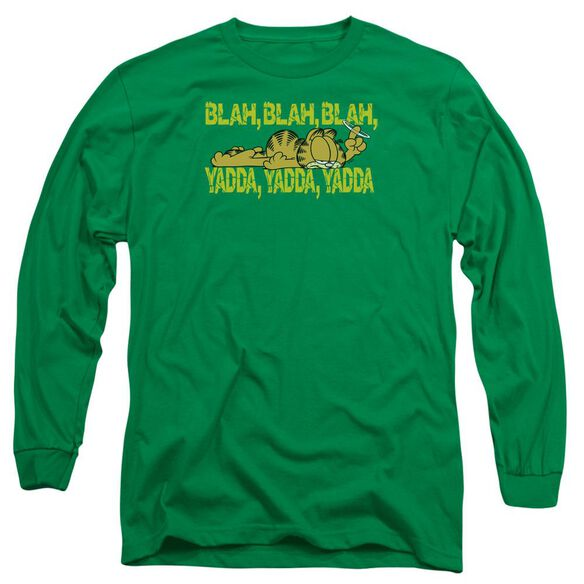 Garfield Blah Blah Blah Long Sleeve Adult Kelly T-Shirt