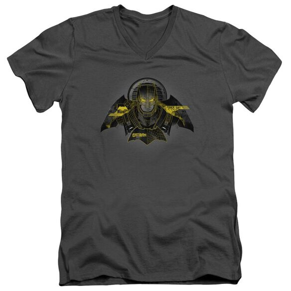 Batman V Superman Batman Tech Short Sleeve Adult V Neck T-Shirt