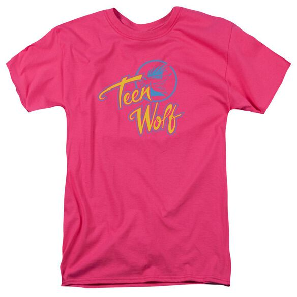 Teen Wolf Cmy Logo Short Sleeve Adult Hot Pink T-Shirt
