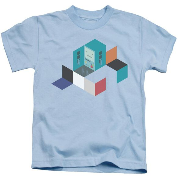 Adventure Time Bmo Blocks Short Sleeve Juvenile Light Blue T-Shirt