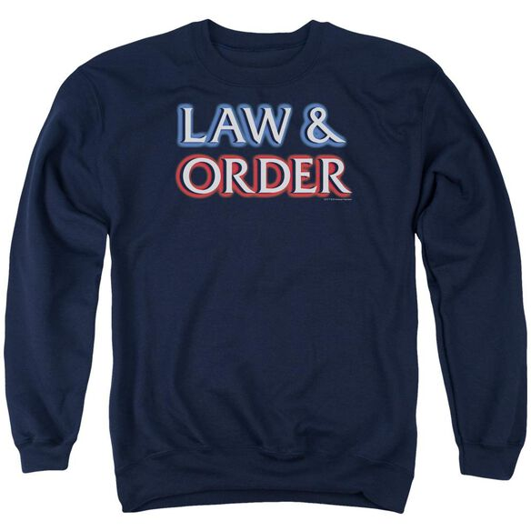 Law And Order Logo Adult Crewneck Sweatshirt