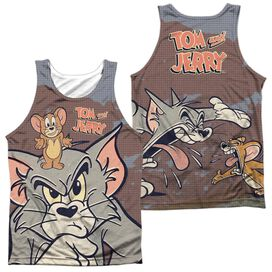 Tom And Jerry Up To No Good (Front Back Print) Adult Poly Tank Top