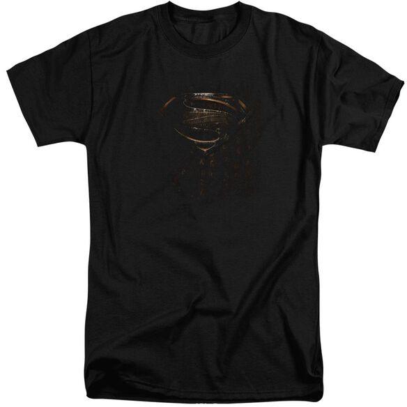 Man Of Steel Mos Glyph Shield Short Sleeve Adult Tall T-Shirt