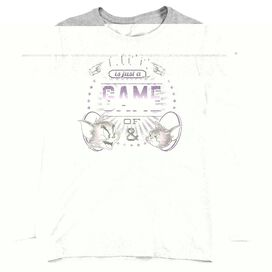 TOM AND JERRY LIFE IS A GAME-WOMENS LONG SLEEVE