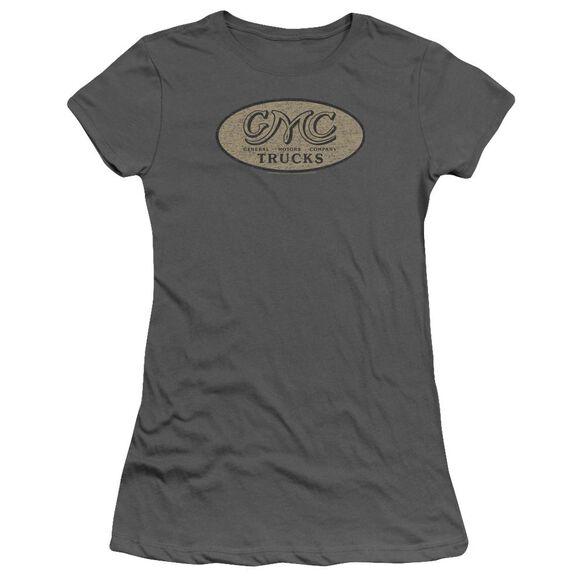 Gmc Vintage Oval Logo Short Sleeve Junior Sheer T-Shirt
