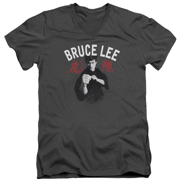Bruce Lee Ready Short Sleeve Adult V Neck T-Shirt