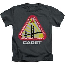 Star Trek Starfleet Cadet Short Sleeve Juvenile Charcoal T-Shirt