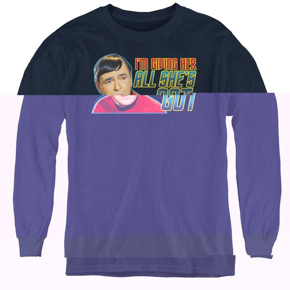Star Trek All Shes Got - Youth Long Sleeve Tee - Navy