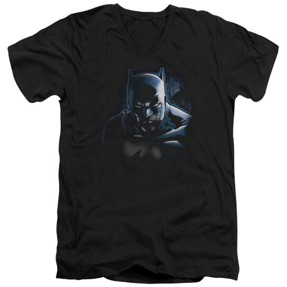 Batman Don't Mess With The Bat Short Sleeve Adult V Neck T-Shirt