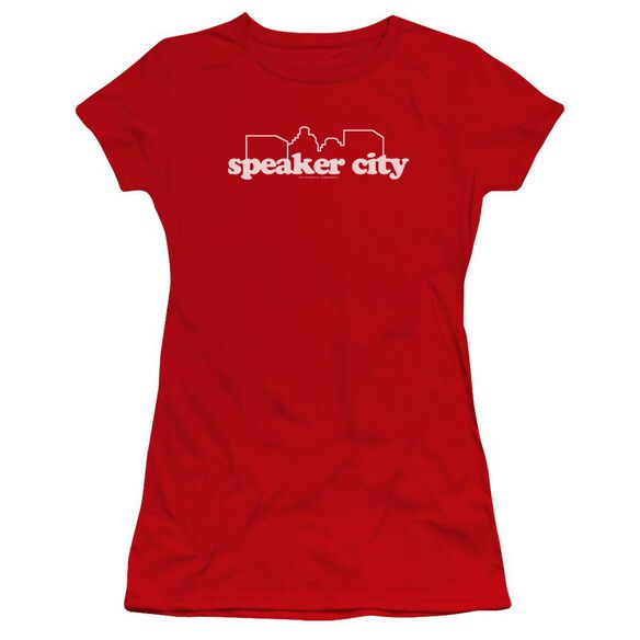 Old School Speaker City Logo Premium Bella Junior Sheer Jersey
