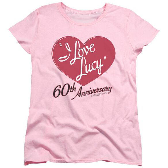 I Love Lucy 60 Th Anniversary Short Sleeve Womens Tee T-Shirt